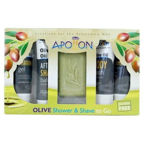 Olive Oil shower and shave pack