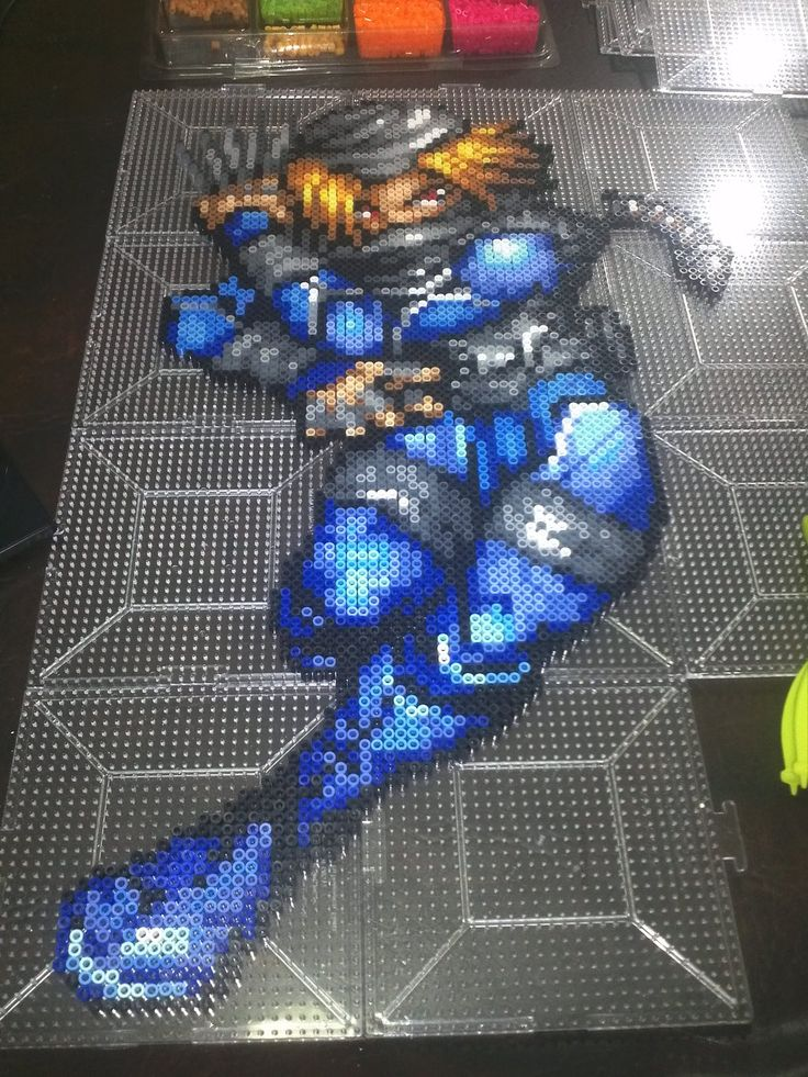Perler Sheik - Legend of Zelda by MaraVWGolf on deviantart < This would be awesome!