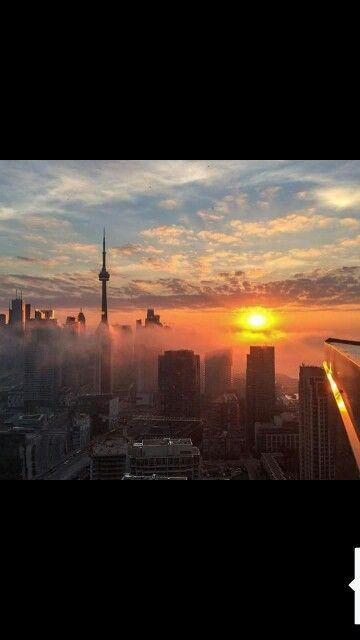 Sunset in   Toronto   Canada