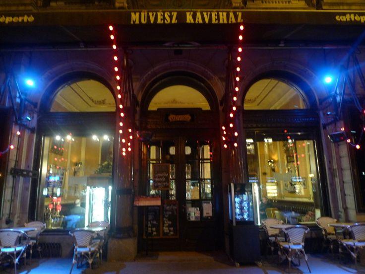 My first coffee in Budapest - Muvesz Kavehaz
