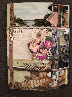 Hekta på papirkunst: Albumkort med tutorial. DT bidrag for Scrappiness