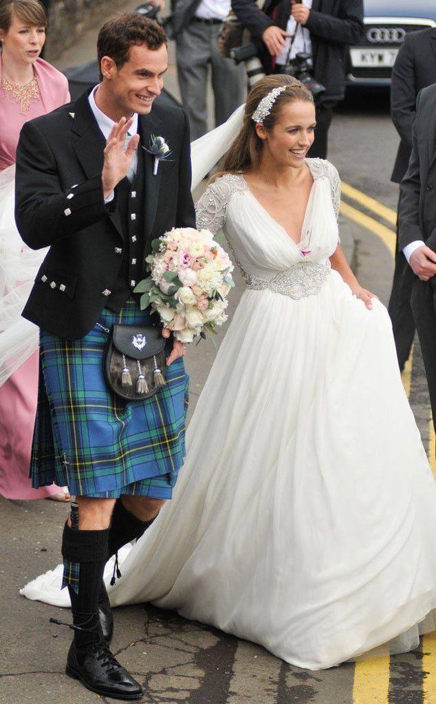 Andy Murray Is Married! Tennis Star Weds Kim Sears, Who Looks Like a Princess Bride—See a Wedding Photo! Andy Murray, Kim Sears