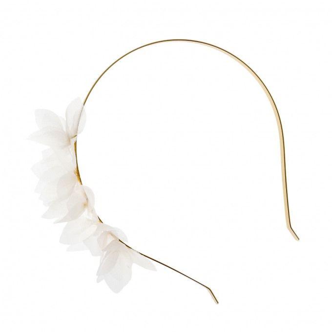 Zarter Goldener Haarreif Für Die Brautfrisur Blumenkranz