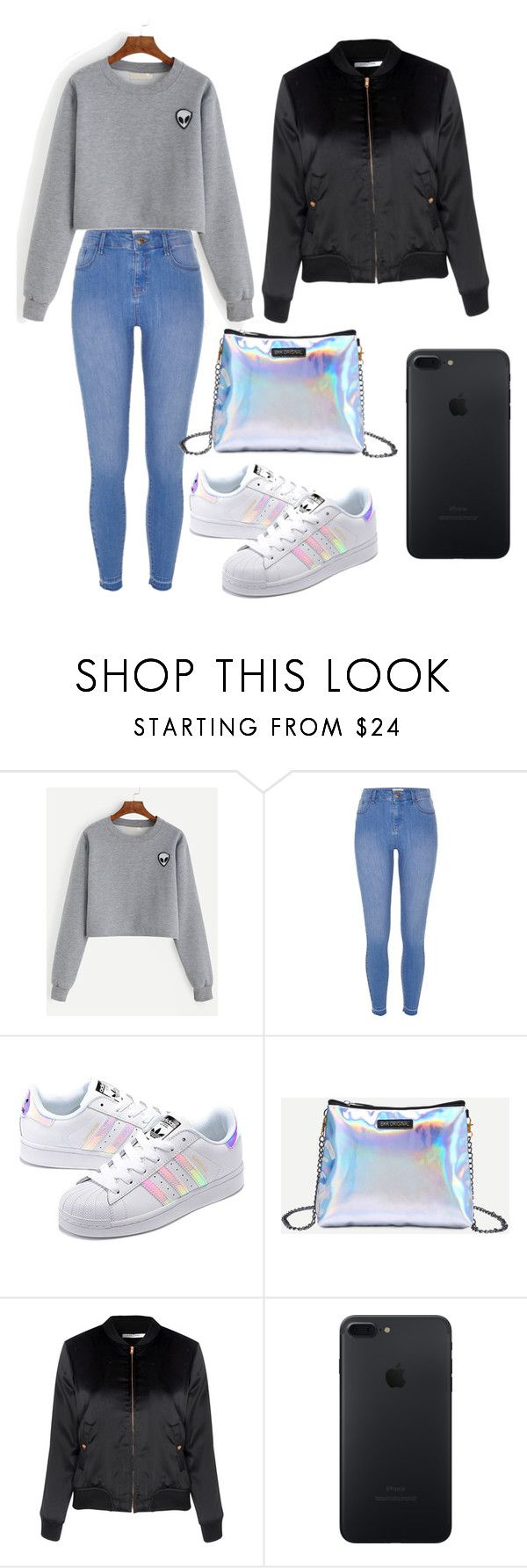 """""""Untitled #251"""" by timcaaa on Polyvore featuring River Island, adidas Originals and Glamorous"""