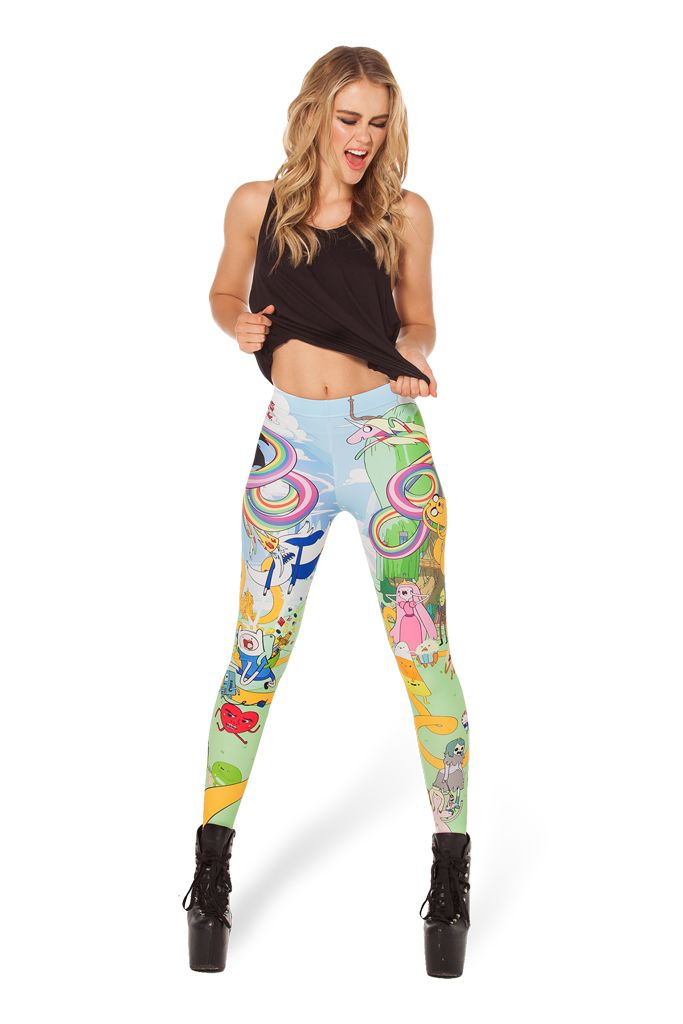 LOST PUPPIES The Land of Ooo HWMF Leggings by Black Milk Clothing $85AUD