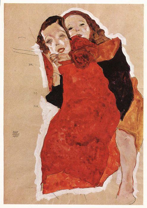 "Egon Schiele: ""Two girls"" 1911"