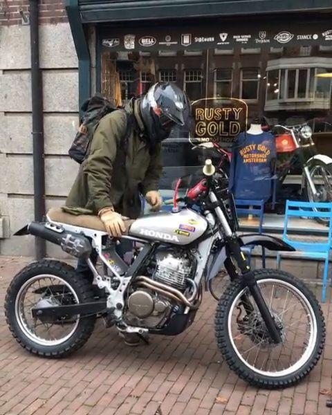 Vintage Honda NX650 Custom Motorcycle – #custom #Honda #machine #Motorcycle #NX650