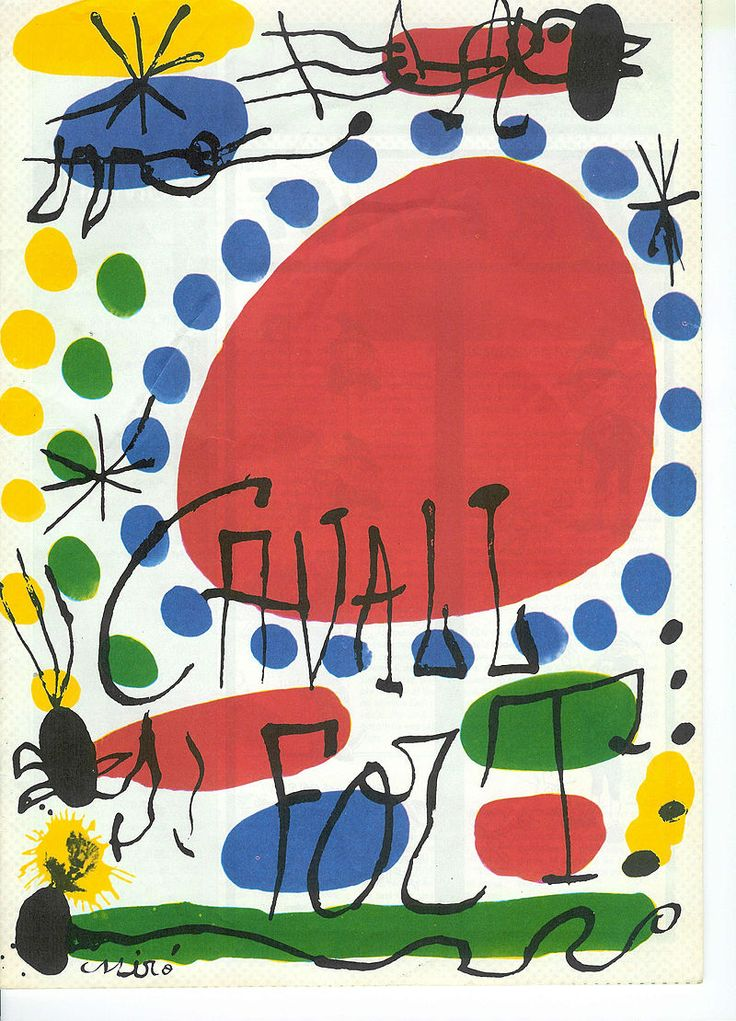 CAVALL FORT, a children's magazine by Joan Miró (Catalan 1893~1983)