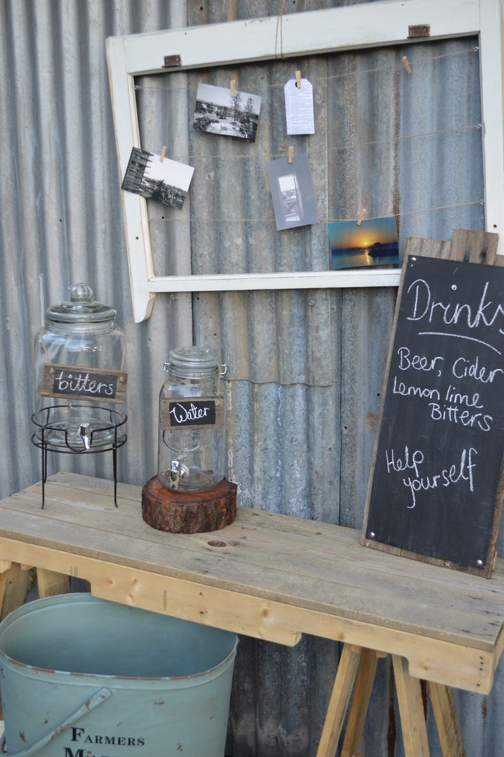 RUSTIC COUNTRY Drinks Station