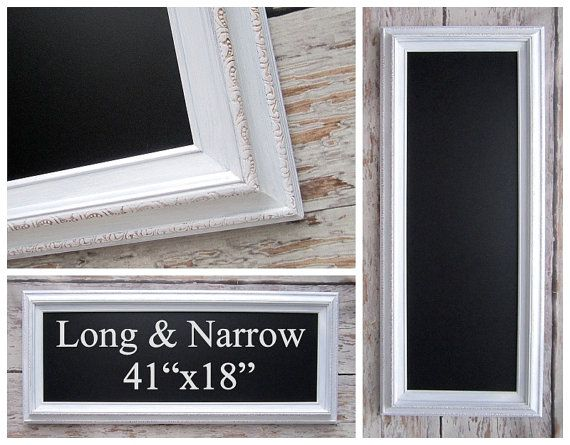 1000 images about chalkboards mirrors for the home on for White framed long mirror