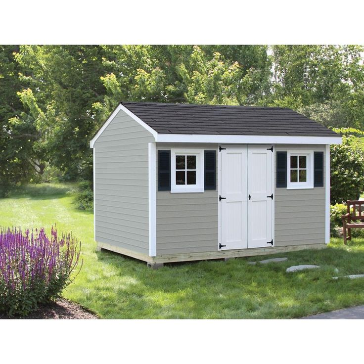 Sheds USA Installed Classic 8 ft. x 12 ft. Vinyl Shed-V0812C - The Home Depot