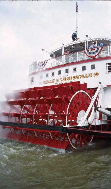 The Belle of Louisville cruises the Ohio River from Memorial Day to Labor Day.