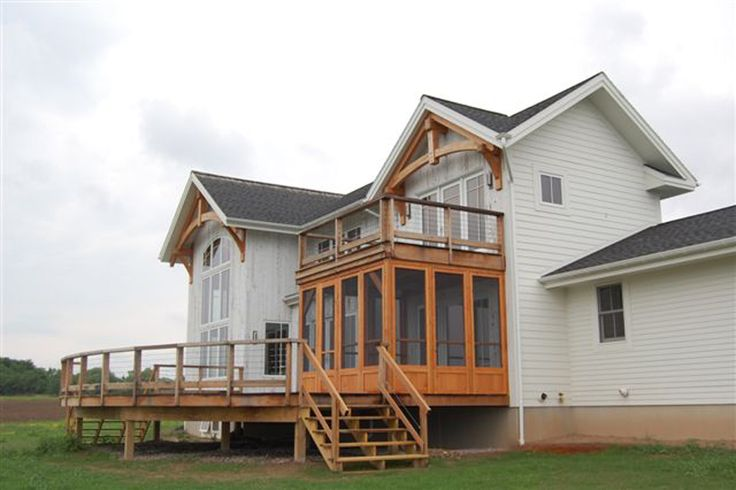 Geneseo ny is a good place to enjoy all four seasons a for Timber frame porch addition