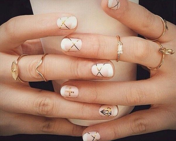 350 best elegant nails images on pinterest nail designs pretty nail designs with striping tape the diamond made out of the tape is very clever prinsesfo Gallery