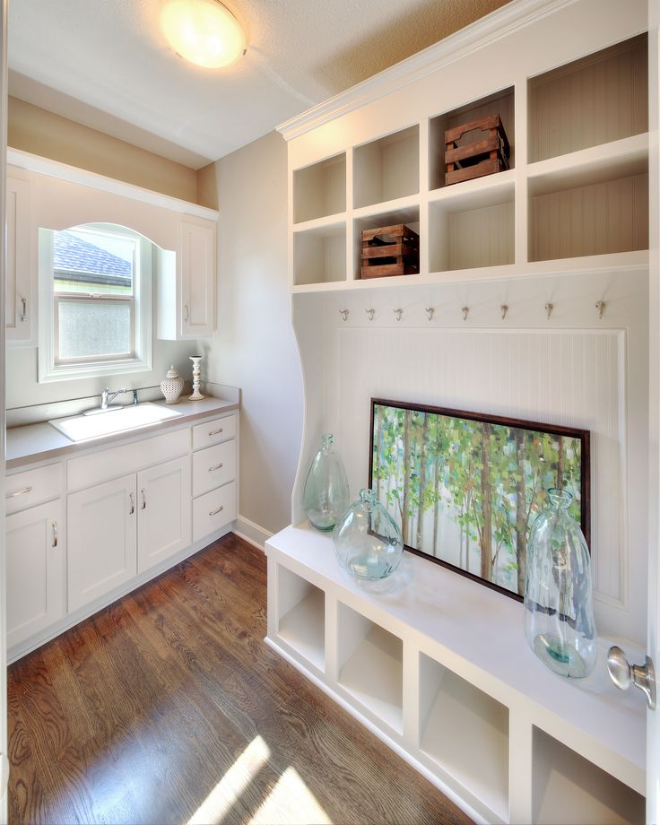 Mudroom, Boot Bench, Built Ins, Laundry Sink, Interior Design, Home