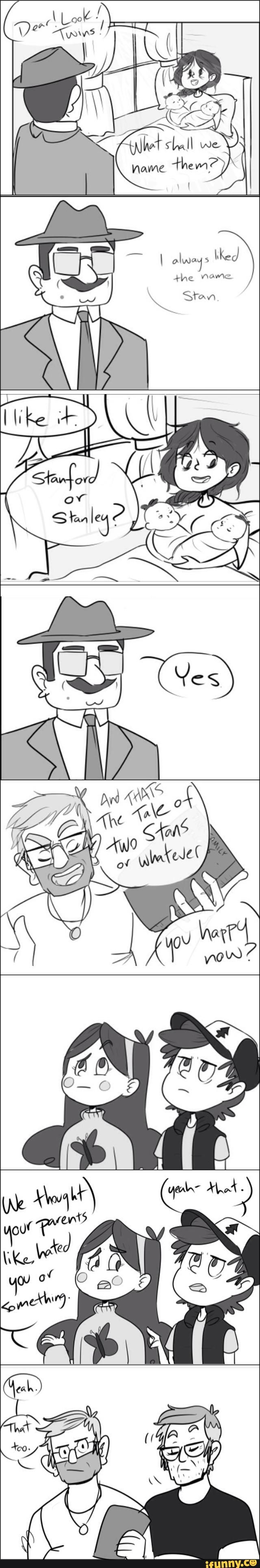 """That too"" I like to think that's how they name them #GravityFalls #Stan #Ford"