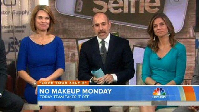 Today Show hosts go make-up-free on air | Mail Online