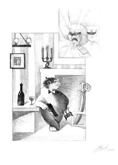 Иллюстрации к «Мастеру и Маргарите»: Карандашные рисунки Романа Чалого
