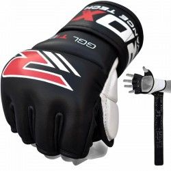 RDX Leather MMA Gel Training Grappling Gloves
