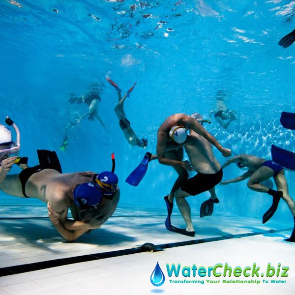 Underwater rugby is an ultimate team sport. Just like rugby, two teams try hard to place the ball into opponent's' goal at the bottom of a swimming pool. #WaterFun