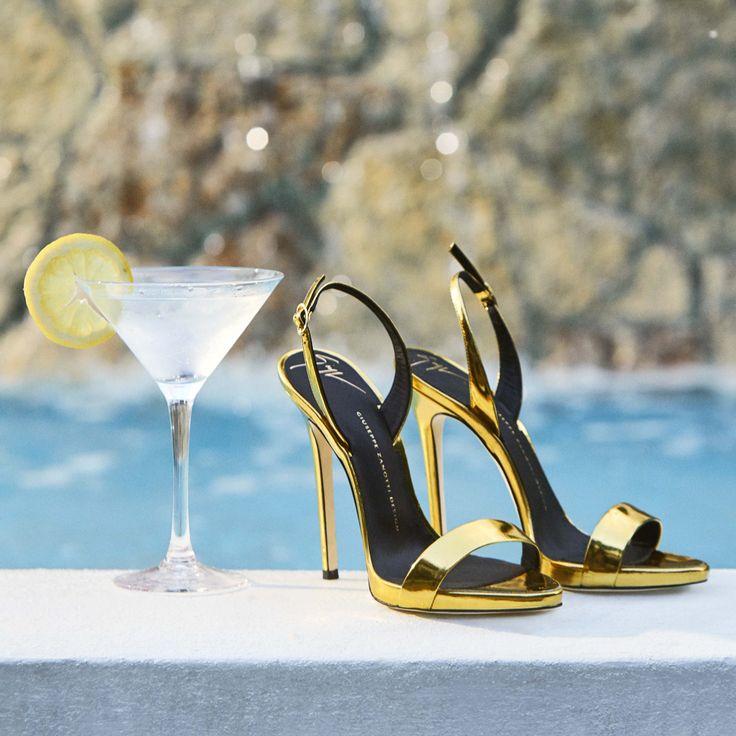 Whether shaken or stirred, she's always spot on. The SOPHIE sandal. #GZSS17 #GiuseppeZanotti