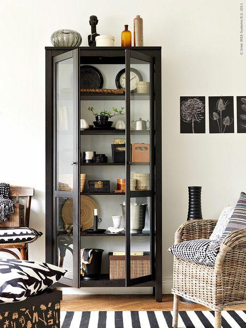 Ikea Livet Hemma {black and white scandinavian modern living room}