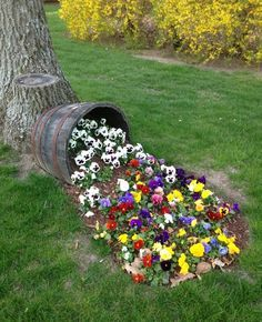 Image result for small pulley with buckets and flowers