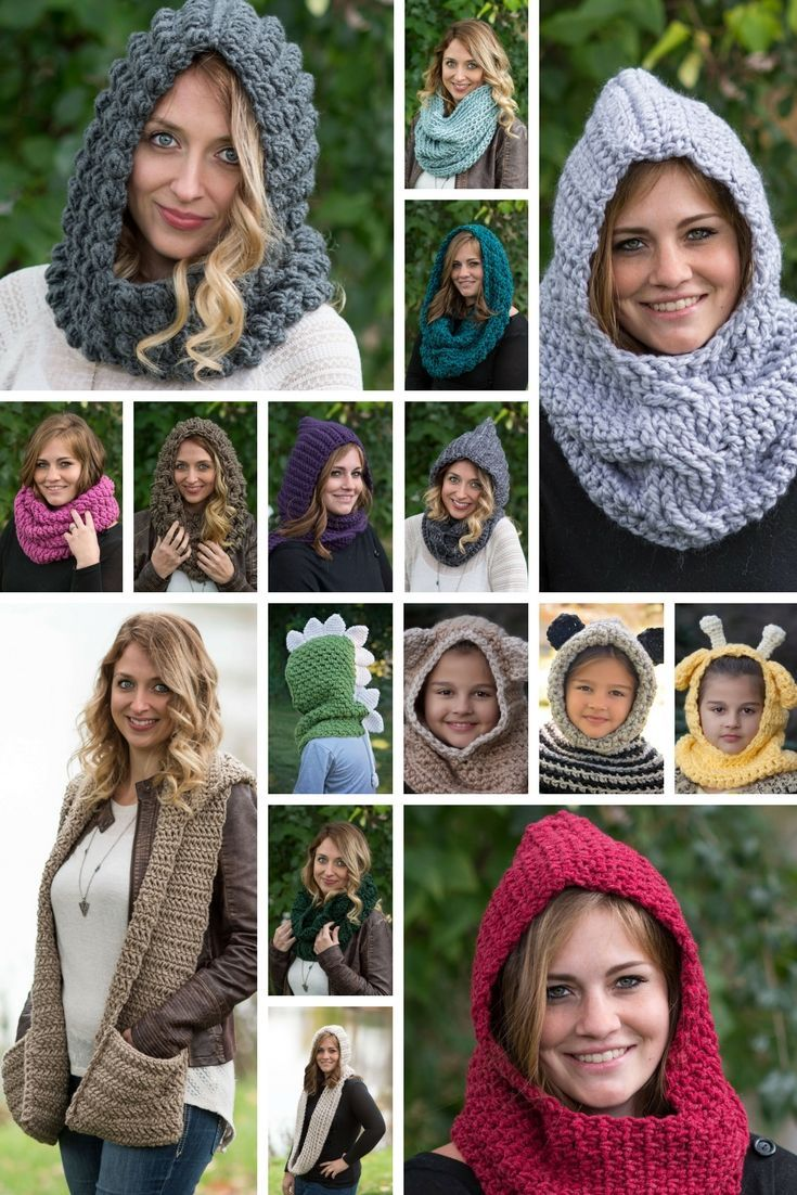 A Brand New Crochet Pattern Book That Features 27 Awesome Hood Cowl