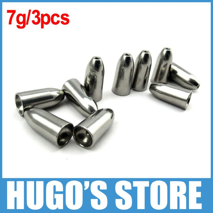 3PCS/Lot 7g 1/4oz Tungsten Bullet Sinker Weight Fast Sinking for Texas Rig Bass Fishing Accessory Lead Sinkers Replacement - OutDoor Shop and More