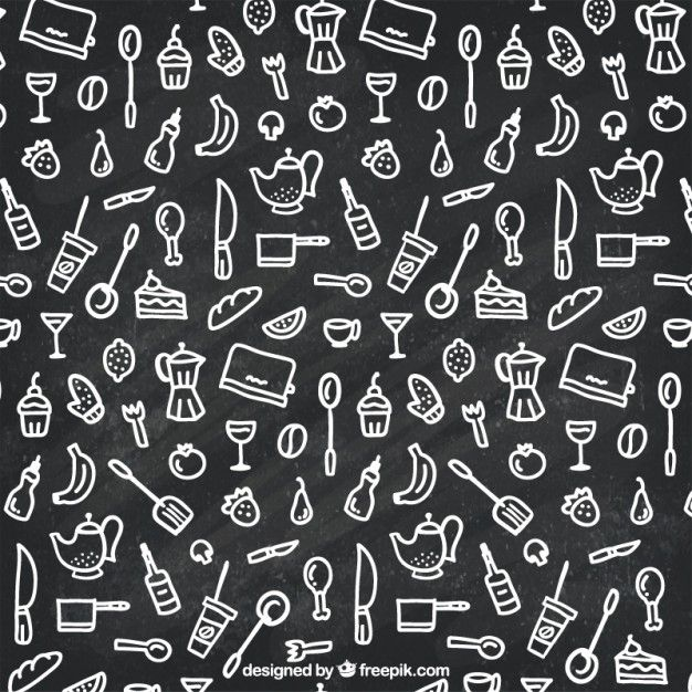 Free vector Hand drawn kitchen icons #5159