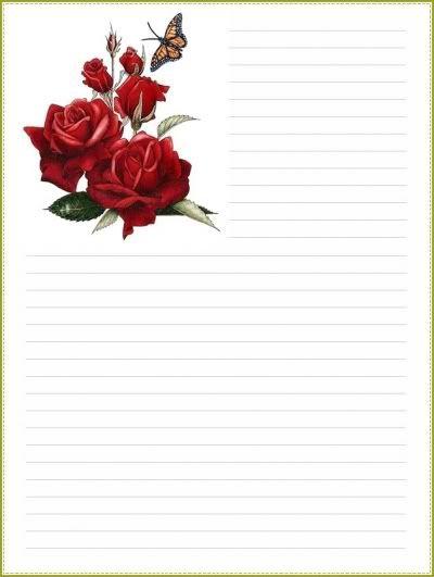 FLEURS ◘ Papiers à Lettre à Imprimer ◘