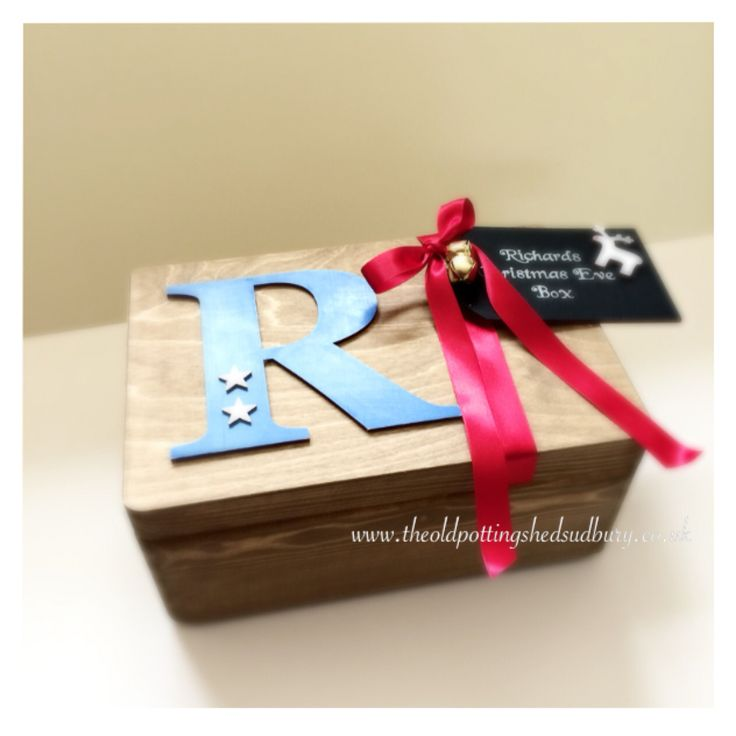 Personalised Christmas Eve box. A great keepsake for the kids and the start of a magical Christmas family tradition available from www.theoldpottingshedsudbury.co.uk
