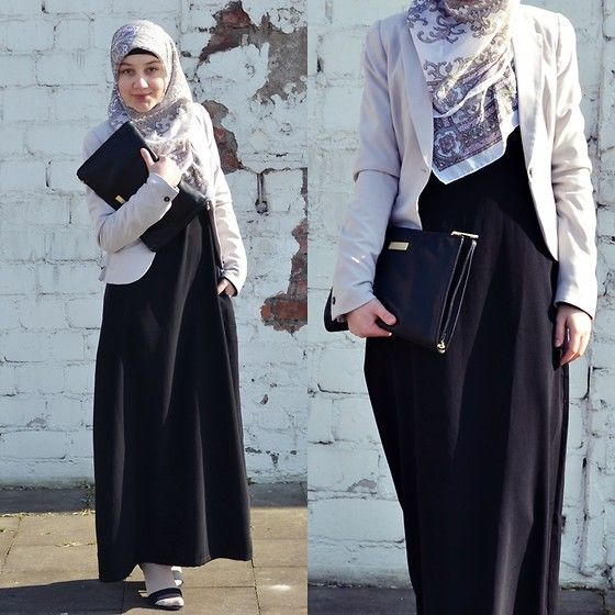 No Name Shop Black Abaya, H Blazer, H Clutch, Six Hijab, Socks