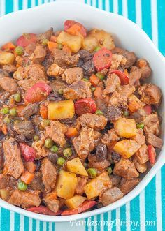 If you love our Pork Menudo recipe, you will definitely like Menudo with Raisins and Green Peas. This recipe is similar to our pork menudo recipe, but made better by adding green peas and raisins. These additional ingredients enhances the flavor of this menudo dish.