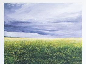 Limited Edition Digital Fine Art Print, 11 X 14, Canola Field, Signed and Numbered by Jen Unger. by JenUngerFineArts on Etsy