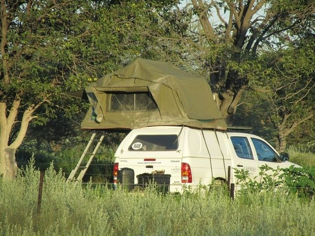 Camping at Eldorado B&B just 10 min south of the Anderson Gate of the Etosha National Park.