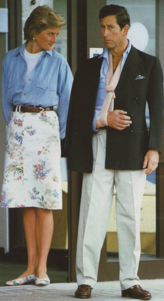 July 1, 1990: Prince Charles and Princess Diana leave Cirencester Memorial Hospital after the Prince was treated for a polo injury to his arm.