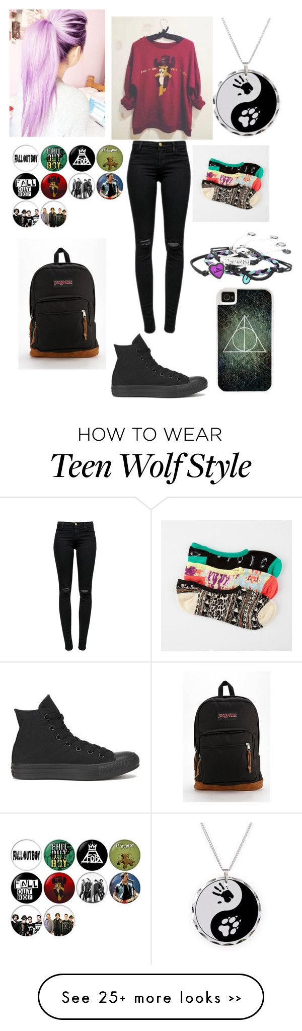 """""""Untitled #176"""" by unicorn-rainbows on Polyvore featuring moda, J Brand, Converse, JanSport, Vans e CellPowerCases"""