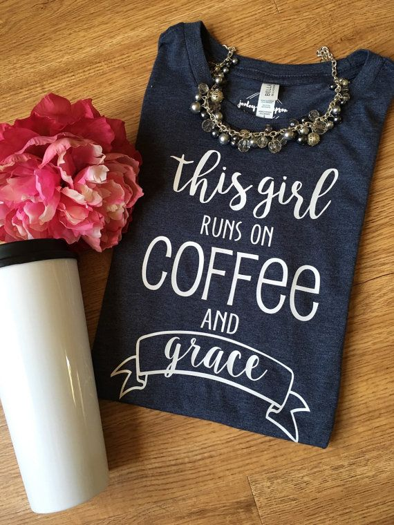 Graphic Tee. This Girl Runs on Coffee and by JenleyandThompson