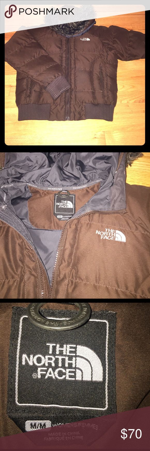 North face winter jacket Brown North Face jacket with fur hood. It's in good condition and is a size medium! North Face Jackets & Coats Puffers