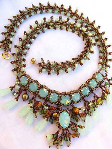 ❥ Love the colors~ New Opal Imperial necklace by Cielo Design, via Flickr