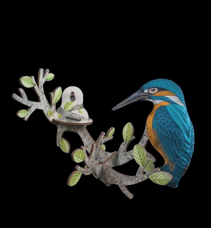 Bird on Branch - Kingfisher