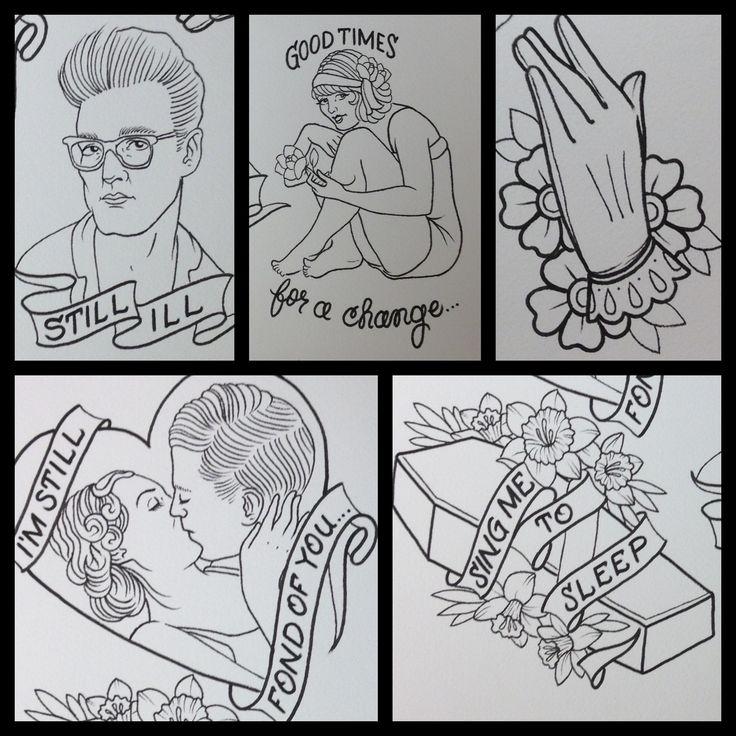 Morrissey/ Smiths tattoo flash Done by Shannon Reed / Norfolk, VA / Instagram : shannonreedtattoo