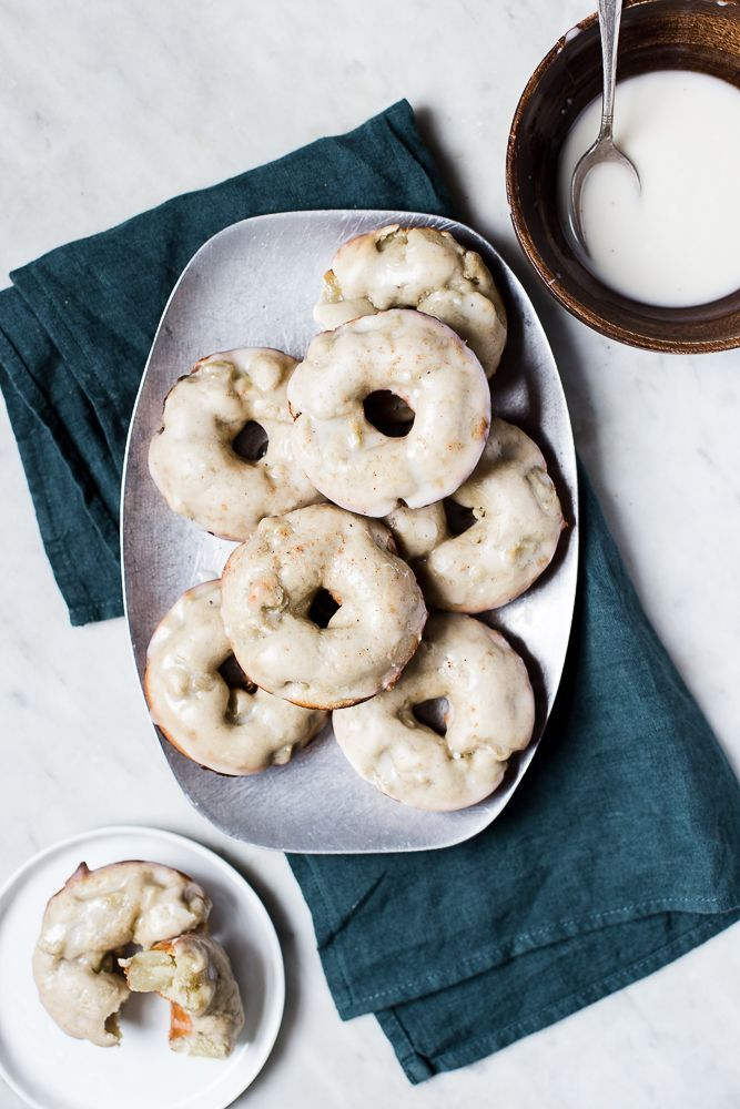 Irish Apple Cake Donuts with Whiskey Glaze (inspiration to create a grain-free, refine sugar free version)