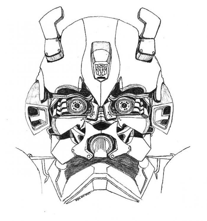 Transformers Bumblebee Coloring Pages in 2020 ...