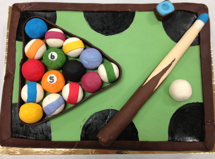 Pool table cake for 65 th birthday