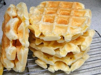 Brazilian cheese bread (pão de quiejo) waffles. Would probably make a delicious base for eggs benedict.