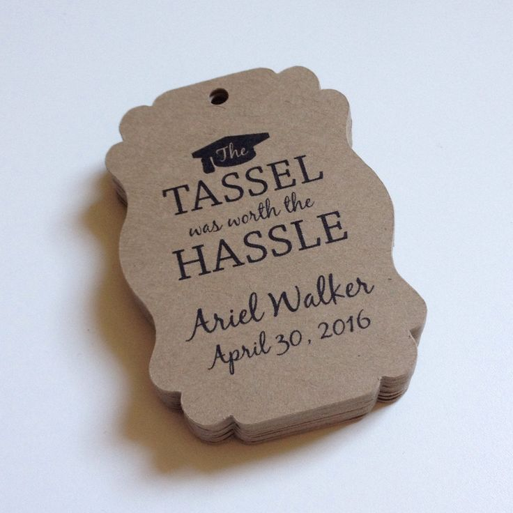 Honoring the Class of 2017! Love this customer inspired graduation party favor tag design.