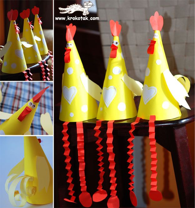Chickens! It would be cute to wear these as farm hats?!? Maybe for a reader's theater...