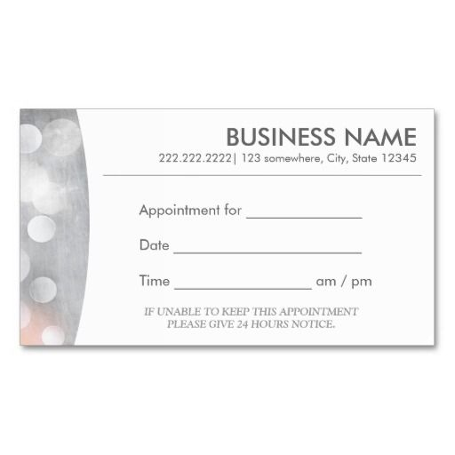 Appointments Cards